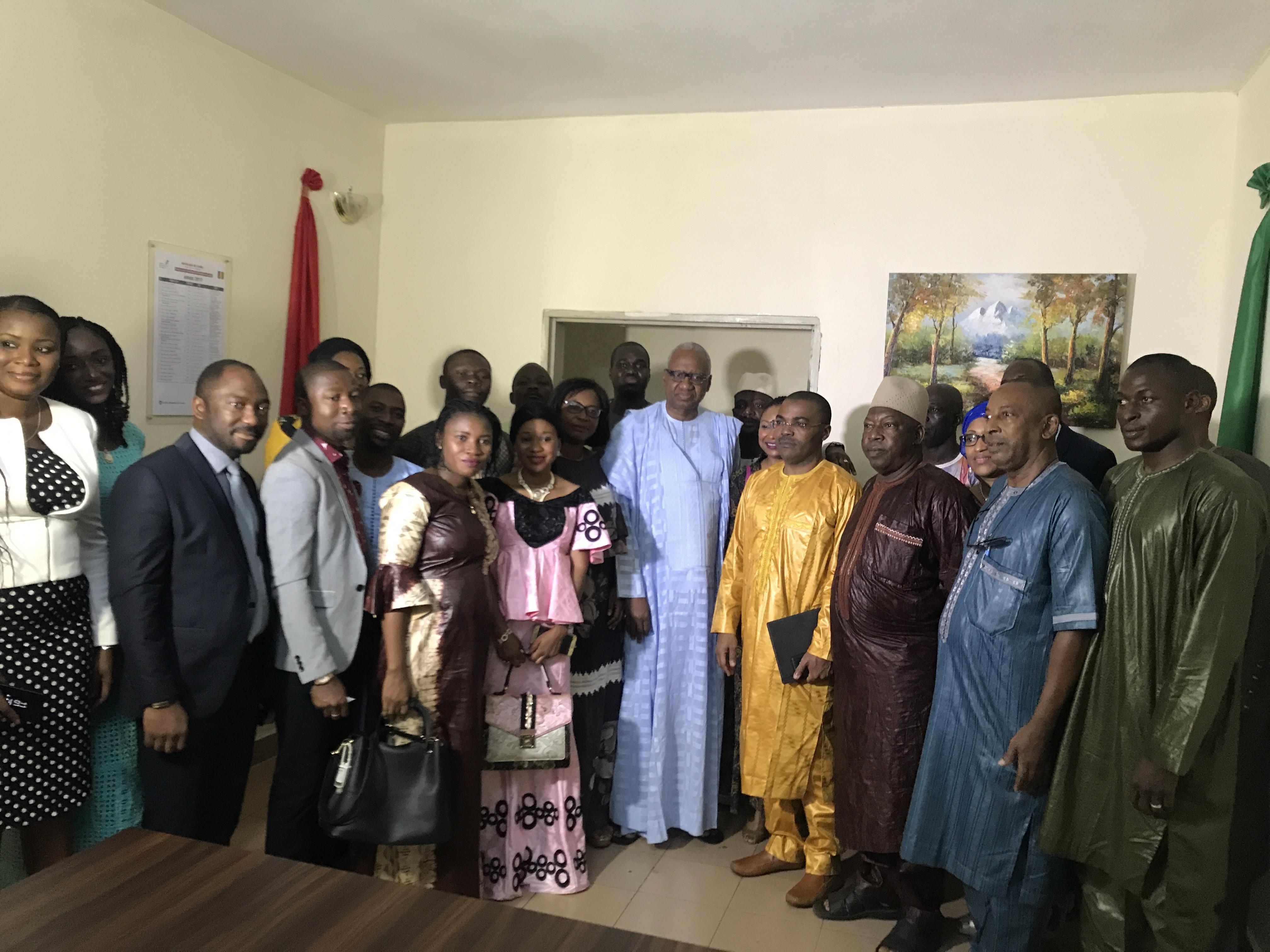 A l'inauguration du siège de la Chambre des notaires de Guinée